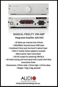 Musical Fidelity V90 Integrated Lifier musical fidelity m1lps mm mc phono pre lifier www audiomarketing au musical fidelity