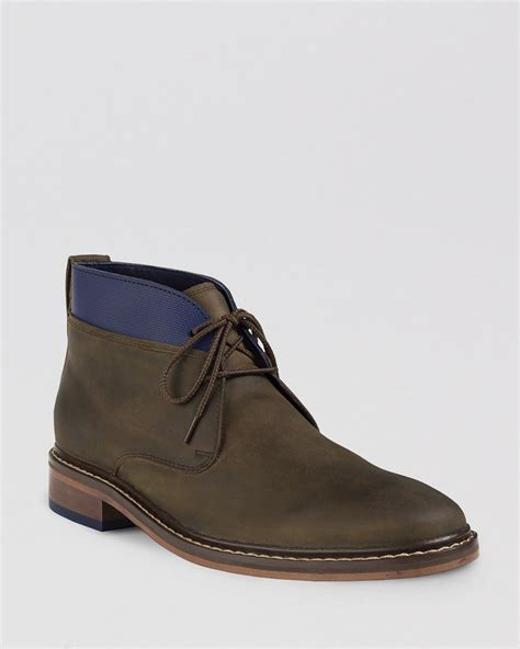 chukka boots cole haan colton winterized leather chukka boots in green