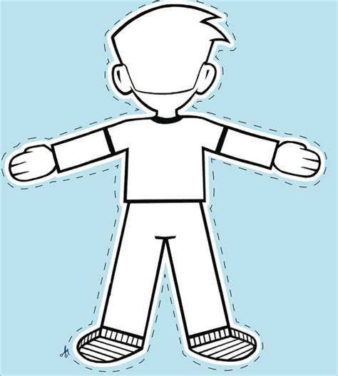 Flat Stanley Template Printable by 20 Free Flat Stanley Templates Colouring Pages To Print