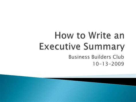how to write an executive summary for a research paper how to write an executive summary