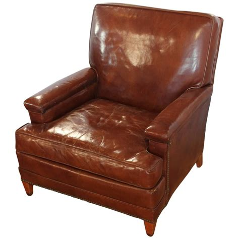 leather club chair recliner antique leather club chair at 1stdibs