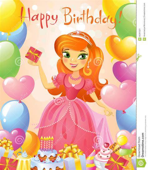 imagenes de princesas que digan feliz cumpleaños feliz cumplea 241 os princesa tarjeta de felicitaci 243 n