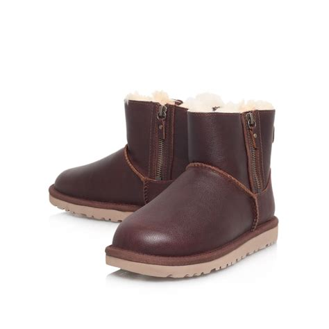 Ankle Zip by Ugg Classic Mini Zip Ankle Boots In Brown Lyst