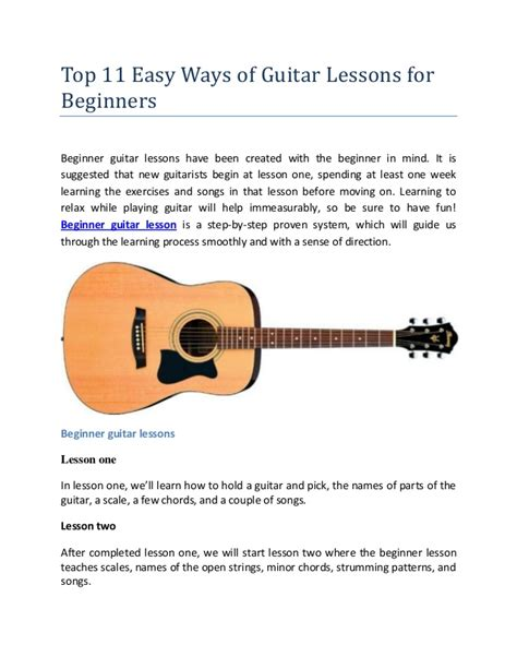 tutorial guitar easy top 11 easy ways of guitar lessons for beginners
