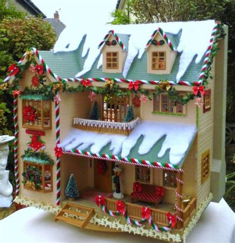 sylvanian dolls house details about sylvanian family christmas decorated house manor fully furnished and