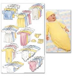 Mccall s infants and preemie layette 6103