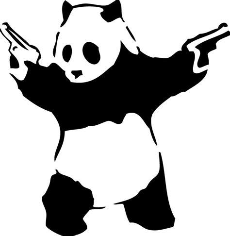 panda tattoo template panda guns stencil eats shoots and leaves eats shoots