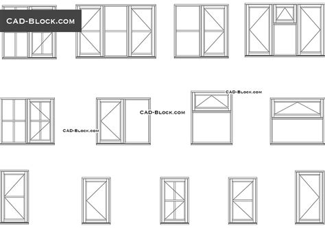window section cad block windows cad blocks free download