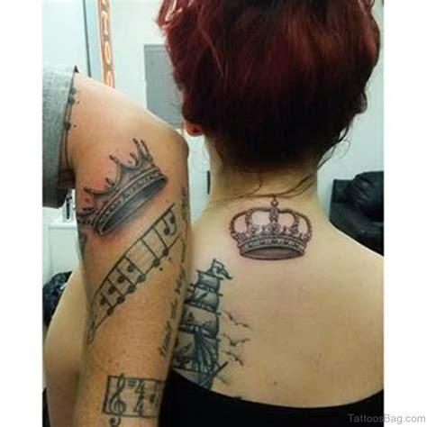 queen tattoo on back 22 pleasing queen crown neck tattoos