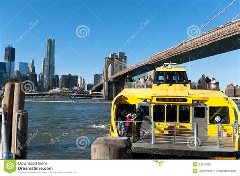 boat transport nyc new york city taxi empire state building editorial image