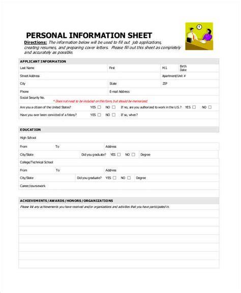 sle contact sheet personal data sheet 28 images 11 information sheet