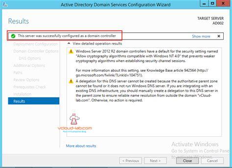 part  configure  promote active directory domain