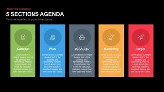 5 sections agenda powerpoint keynote template slidebazaar