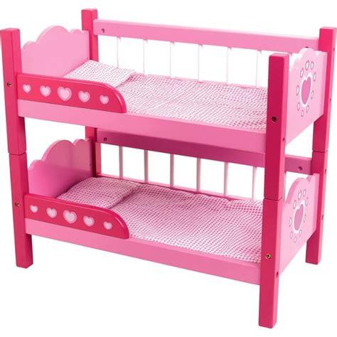 buy dollsworld wooden bunk beds  argoscouk   shop  dolls furniture dolls
