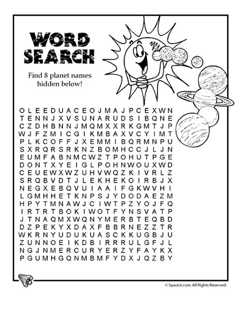 printable word search solar system solar system word search woo jr kids activities