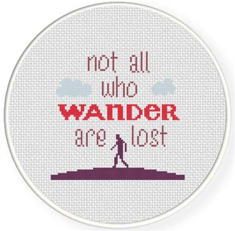Wander Are Lost not all who wander are lost cross stitch pattern daily