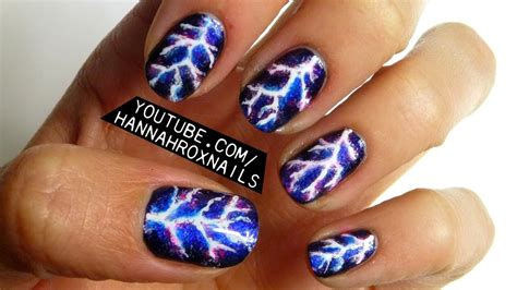 lightning nail art tutorial electric lightning nail art youtube