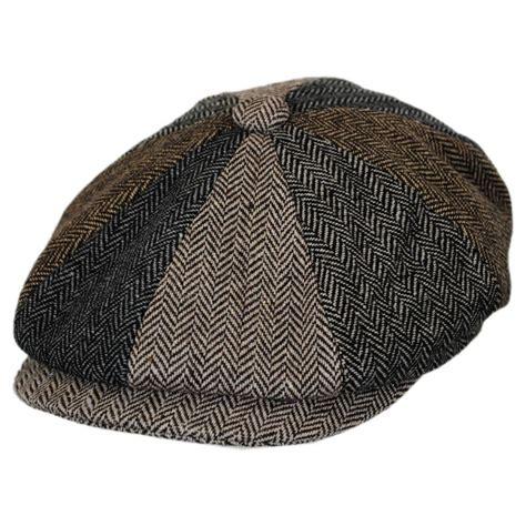 Patchwork Newsboy Cap - b2b baby herringbone patchwork wool blend newsboy cap