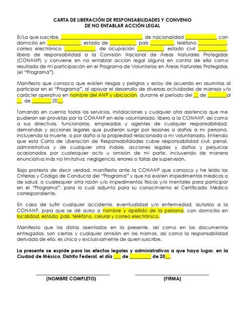 formato de carta de responsabilidad y confidencialidad formato 3 carta liberacion de responsabilidades 2012 docx