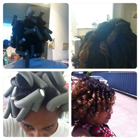 hot rods on relaxed hair 1000 images about flexi rod hairstyles on pinterest