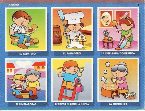 cuentos educativos infantiles oficios y profesiones loto juego de los oficios y profesiones