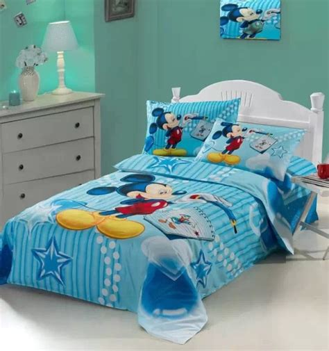 Bedroom Licious Mickey Mouse Print Bedding Set