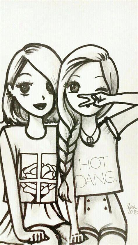 Drawing W Friends by Best 25 Best Friend Drawings Ideas On Friend