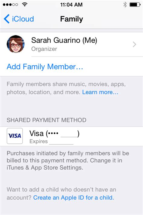 how to make up a credit card number ios 8 how to set up and use family 9to5mac