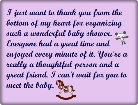 thank you phrases for baby shower baby shower thank you wording poems and quotes