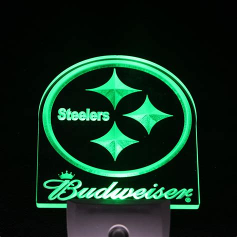 day night light for pittsburgh steelers budweiser day night sensor led night