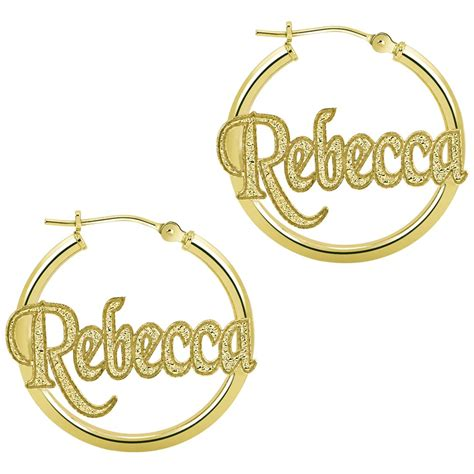Hoop Earrings With gold hoop earrings with name hoop earrings with name