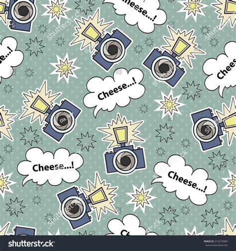 textile pattern website vector seamless pattern cartoon camera background stock