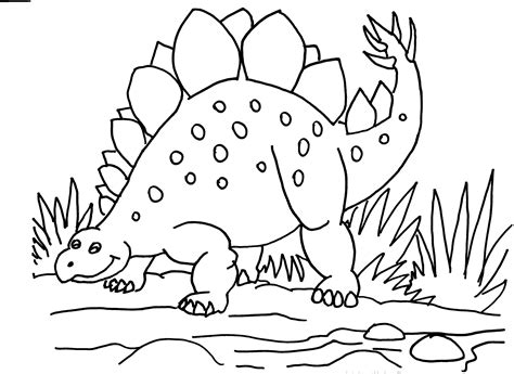 stegosaurus colouring pages coloring pages pinterest