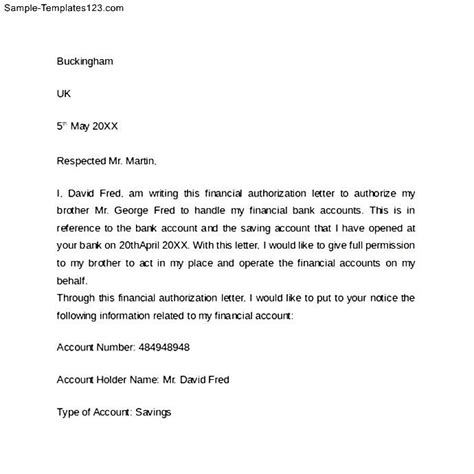 Bank Letter Of Authorization Sle Of Bank Authorization Letter Sle Templates