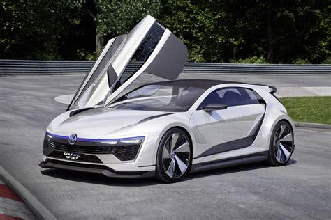 New Volkswagen Golf by Volkswagen S New Golf Concept Has Gullwing Doors And 395