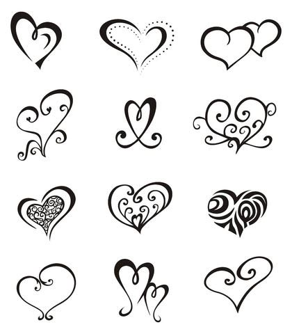 CR Tattoos Design: Small heart tattoos for women