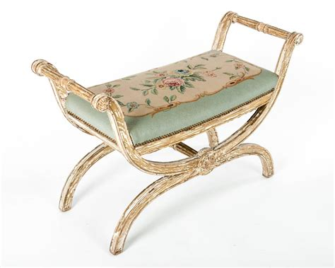 needlepoint bench vintage french needlepoint bench for sale at 1stdibs