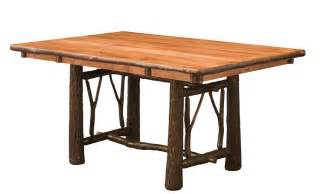 trestle dining room tables amish rustic hickory twig trestle table
