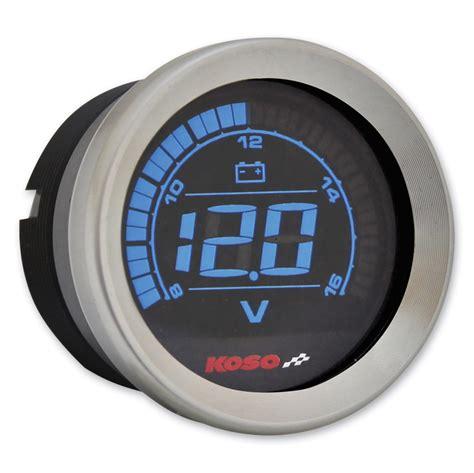 Voltmeter Koso koso 2 chrome voltmeter 744 686 j p cycles