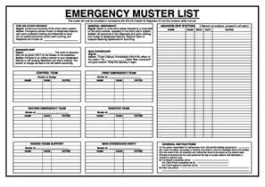 Muster List Muster List Poster Maritime Progress Ltd Maritime Progress Ltd