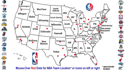 nba usa map mba standings basketball scores