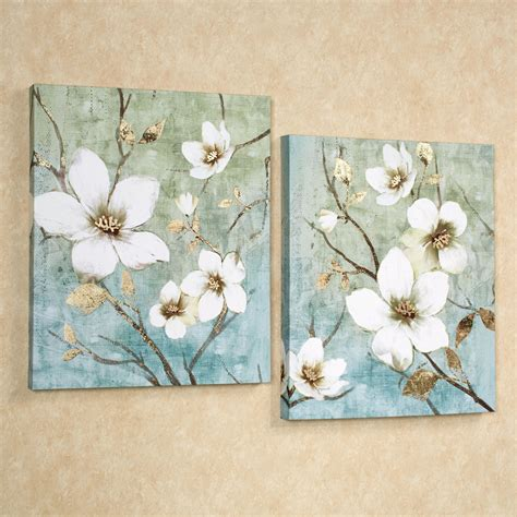 canvas wall decor in bloom floral canvas wall set