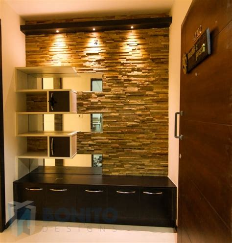Kitchen Bar Cabinet by 2 Bhk Apartment Of Koushik Manne S House Bonito Designs