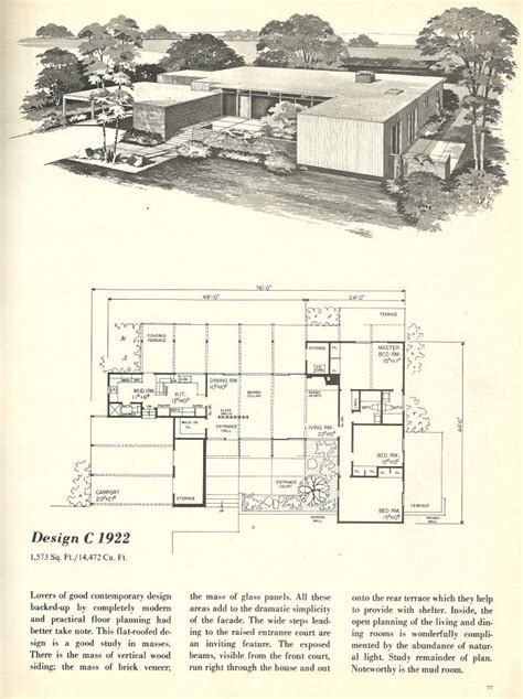 mid century modern homes floor plans vintage house plans 1960s homes mid century homes mid