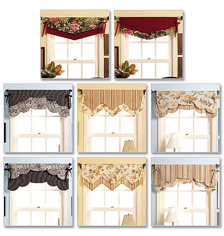 window curtain patterns waverly window curtain reversible valance sewing pattern