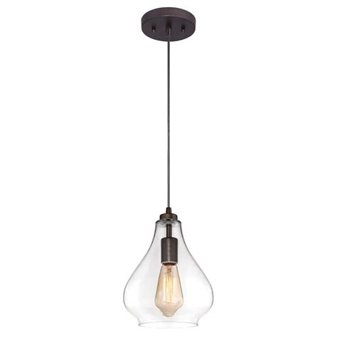 Adjustable Pendant Lighting Westinghouse 1 Light Rubbed Bronze Adjustable Mini Pendant With Blown Clear Glass