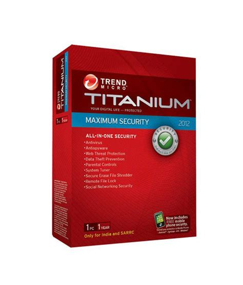 trend micro titanium maximum security 2012 version 3 pc 1
