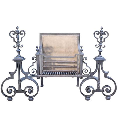 wrought iron fireplace grate early 19th century wrought iron grate or basket for