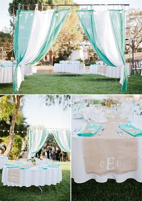 Teal weddings, Teal and Burlap on Pinterest