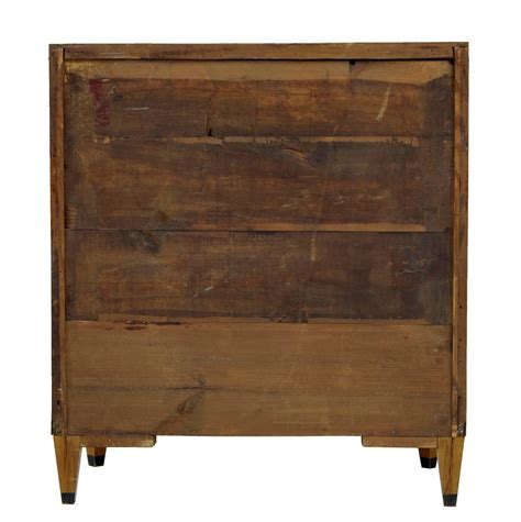 Birch Drawers by 19th Century Inlaid Swedish Birch Chest Of Drawers For